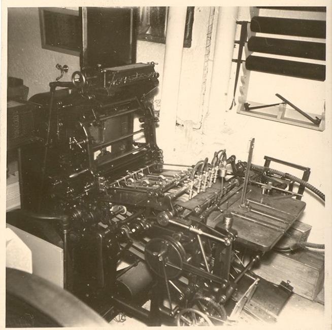 Druckmaschinen – früher wurde in-house gedruckt